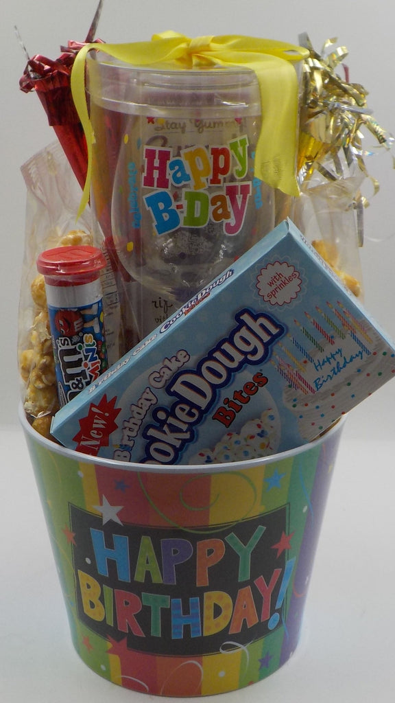 BRING ON THE BIRTHDAY WISHES GIFT BASKET WHINE A LITTLELAUGH LOTBRING