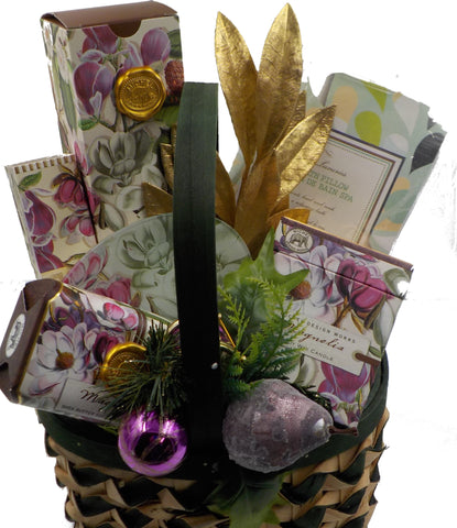 Romantic Magnolia Pamper Gift Basket