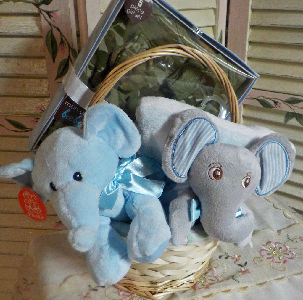 THAT PRECIOUS LITTLE NEWBORN'S NEW FRIEND – MR. ELEPHANT  (BOY))