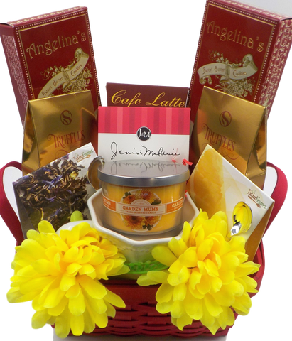 GARDEN OF MUMS THANK YOU GIFT BASKET bu Kind Magnolia