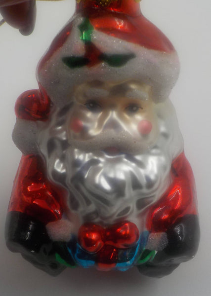 Vintage Glass Ornament - Santa Ornament - 1950 Era - Delightful - Christmas Gift