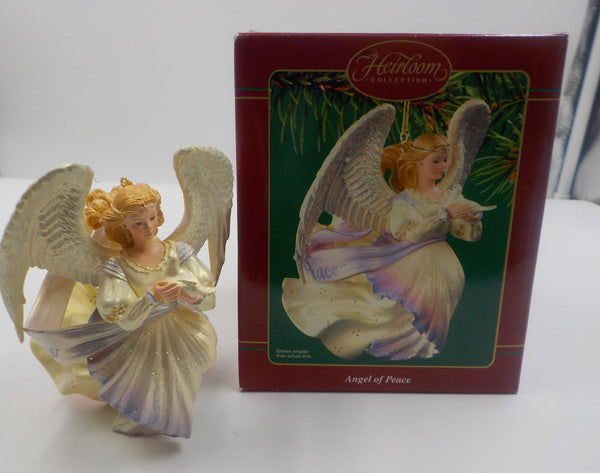 Vintage - Christmas Ornament - Collectible - Angel of Peace - In Orig Box - Ceramic -  Mint Condition - Christmas Gift - Ceramic Ornament