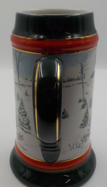 Vintage Beer Stein - Budweiser Christmas 1991 - Collectible Stein - Beer Lovers Gift