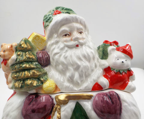 Vintage - JL Hudsons - Daytons - Christmas Cookie Jar - Ceramic -  Santa Claus - Kitchen Decor - Gift for Mom- Vintage Santa Cookie Jar