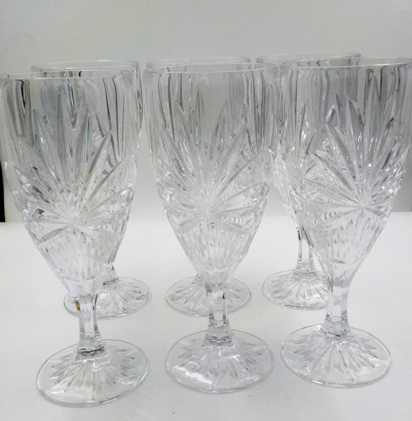 Vintage  - Cut Crystal Water Goblets - Set of 6 - Gorgeous - Elegant - 10 Fl oz - Vintage Crystal - Housewarming Gift - Gift for Her