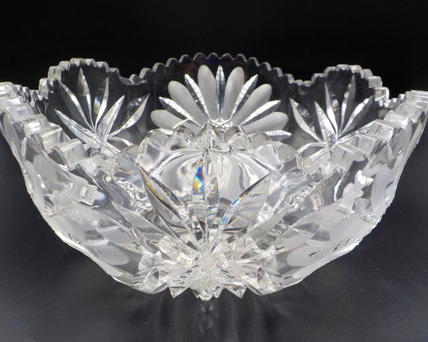 Crystal Serving Bowl -Table Accessory - So Chic - Truly Breathtaking