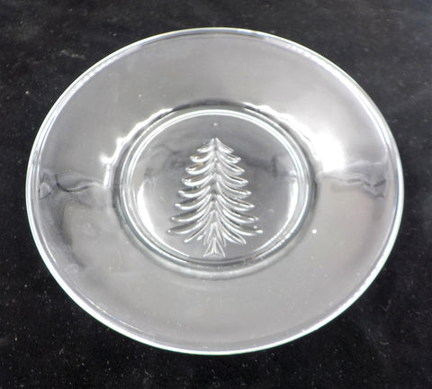 4 Holiday Plates - Appetizer plates - Luncheon Plates -  Vintage Indiana Glass - Simple Elegance