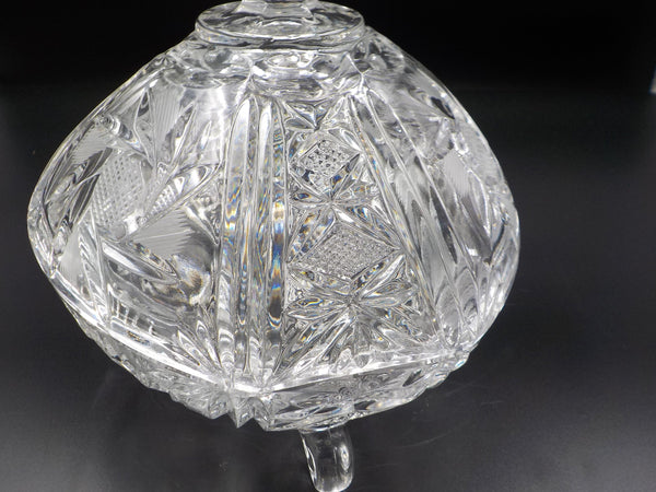 Crystal Footed - Lidded Candy Dish- So Chic - Home Decor