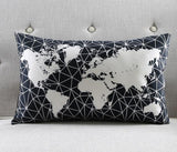 Black & White Earth Pillow Covers-[travel-gifts]-[travel fashion]-[travel accessories]-[top items to pack]-GoFar Essentials