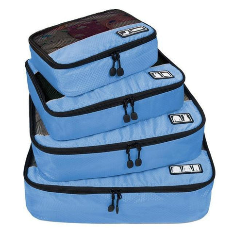 Breathable Travel Bags- 4 Set Organizers-[travel-gifts]-[travel fashion]-[travel accessories]-[top items to pack]-GoFar Essentials
