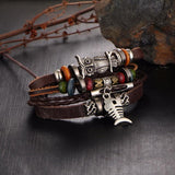Nature's Eye Leather Bracelet-[travel-gifts]-[travel fashion]-[travel accessories]-[top items to pack]-GoFar Essentials