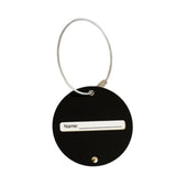 Round Metal Luggage Tag