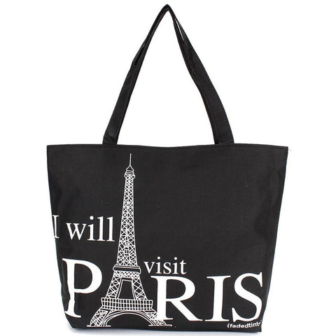 Paris Eiffel Tower Canvas Handbag
