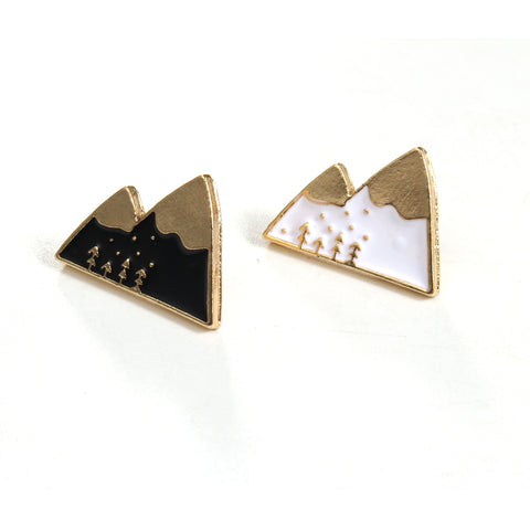 Snow Mountain enamel pin