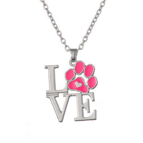 Classic Love paw print necklace