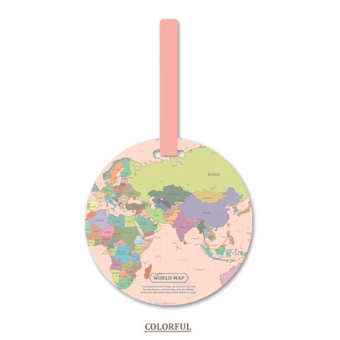 Fashion Map Luggage Tag