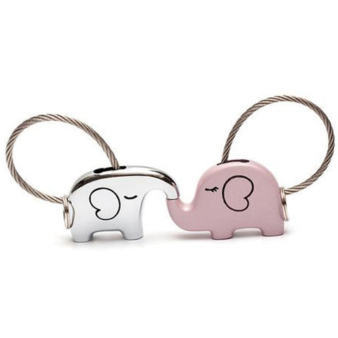 Save The Elephant Love Keychain Set