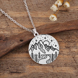 Mountain Necklace Wanderlust Pendants
