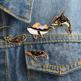 Whale pins  - 4 piece set