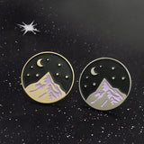 Night Sky Mountain Pins