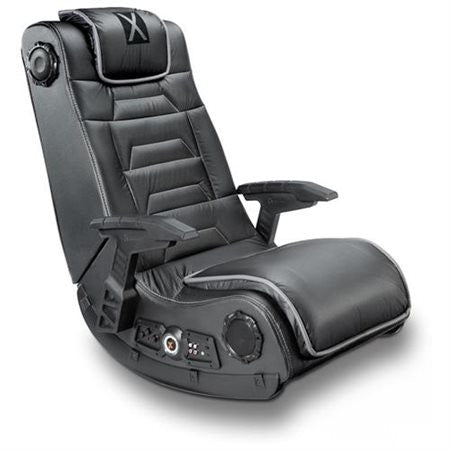 X Rocker Pro H3 Gaming Chair - 4.1 Channel - For TV, Game, Movie - Vinyl, Wood - Black