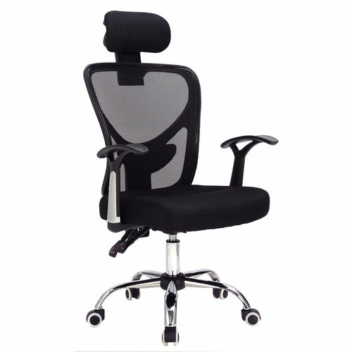 Goplus Ergonomic Mesh Office Chair Modern 360 Degree Swivel Armchair Black Blue Home Lift Chairs with Headrest Furniture HW56004
