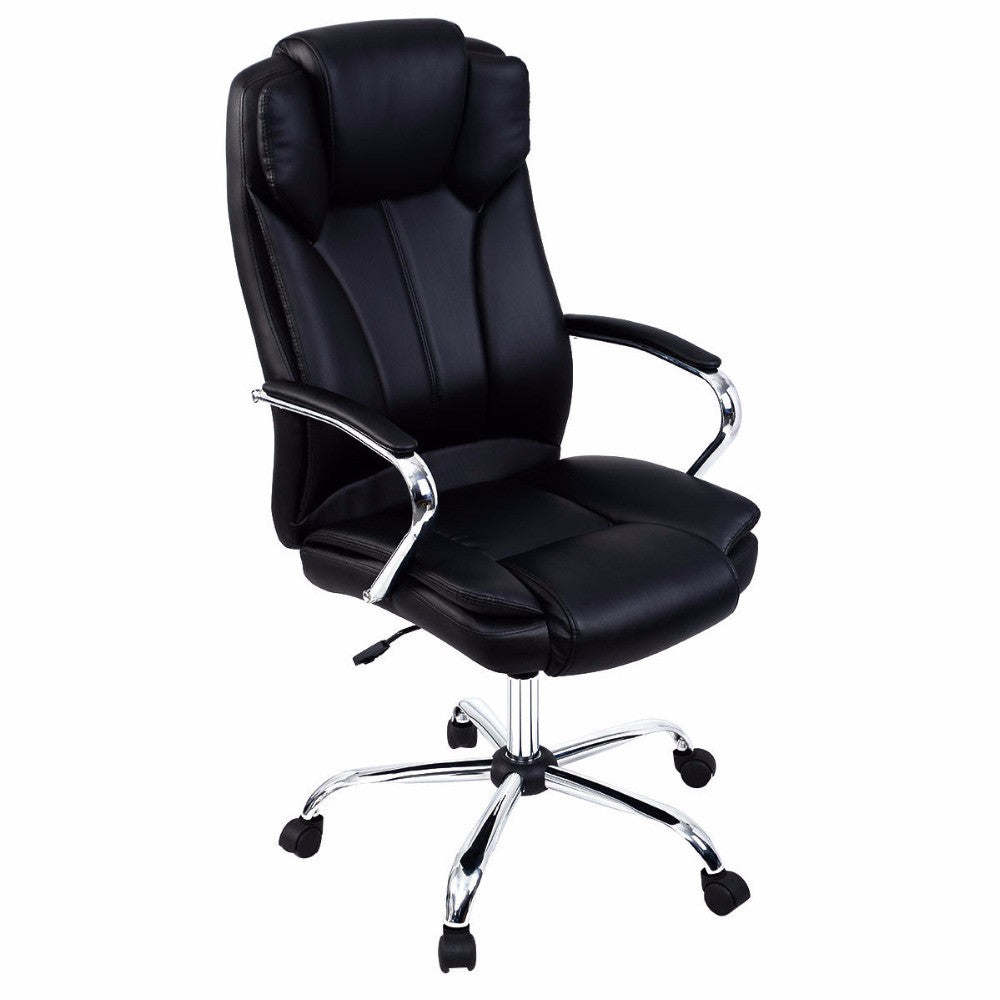 Goplus Ergonomic PU Leather High Back Executive Computer Desk Task Office Chair HW51427