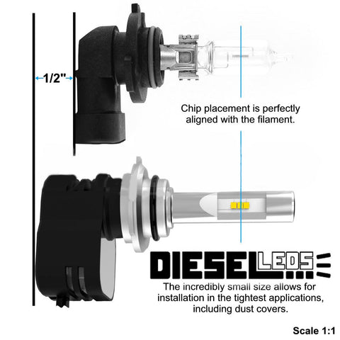 2006-2012 Ram High/Low & Fog Lights (Single Bulb Headlight Configuration)