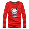 Autumn Casual Cotton T-shirt Printed Long Sleeve Hombre
