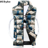 Autumn Casual Slim Vest Camouflage Stand Collar Waterproof