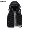 Autumn Winter Casual Hooded Thick Warm Waistcoat Men