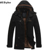 Autumn Winter Casual Medium Long Hombre Hooded