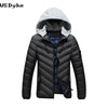 Autumn Winter Casual Thick Warm Comfortable Water-resistant Detachable Cap Winter Coat Male