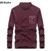 Autumn Winter  O Neck Knitwear Men Long Sleeve