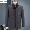 Casual Stand Collar Winter Down Jacket Men White Duck Down Thick Warm Real Fur Collar Winter Jackets