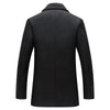 Autumn Long Excellent Pea Coat Men Slim Turn Down Collar Double