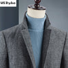 Autumn Winter Long Single Breasted Woolen Coat Men Excellent Thicken Warm