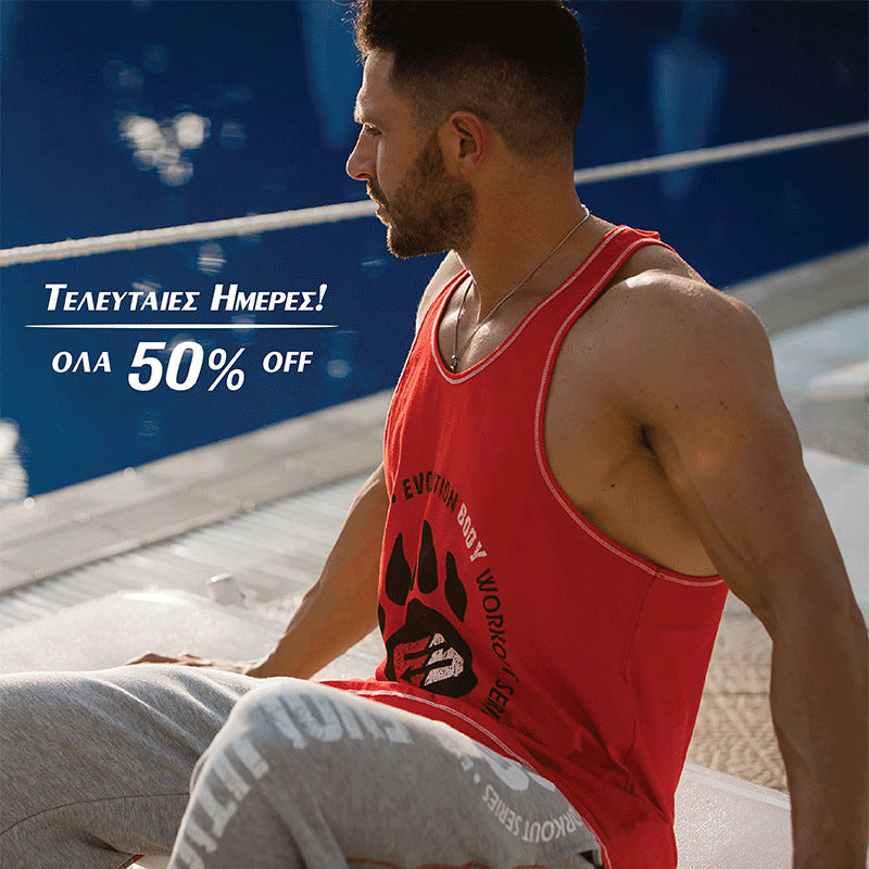 e2cea4e3afb Men gyms clothing Fitness Tank Top Singlet Crossfit Solid color Vest  sleeveless shirts male Sling
