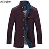 Arrival Business Style Coat Wool Stand Collar Blue Winter Jacket