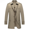 Arrival Trench Coat Medium Long Turn Down Collar
