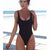 Women One Piece Swimsuit Solid Female Backless Swimwear Beachwear