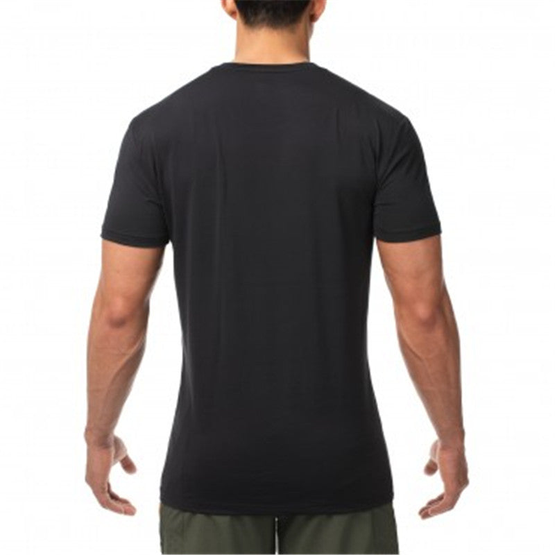 Summer Men Cotton Gyms T Shirts Casual Gyms Fitness Workout Short