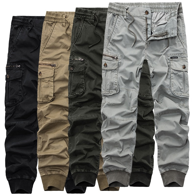 a5b32958f Mens Camouflage Tactical Cargo Pants Men Joggers Boost Military Casual  Cotton Pants Hip Hop Ribbon Male army Trousers