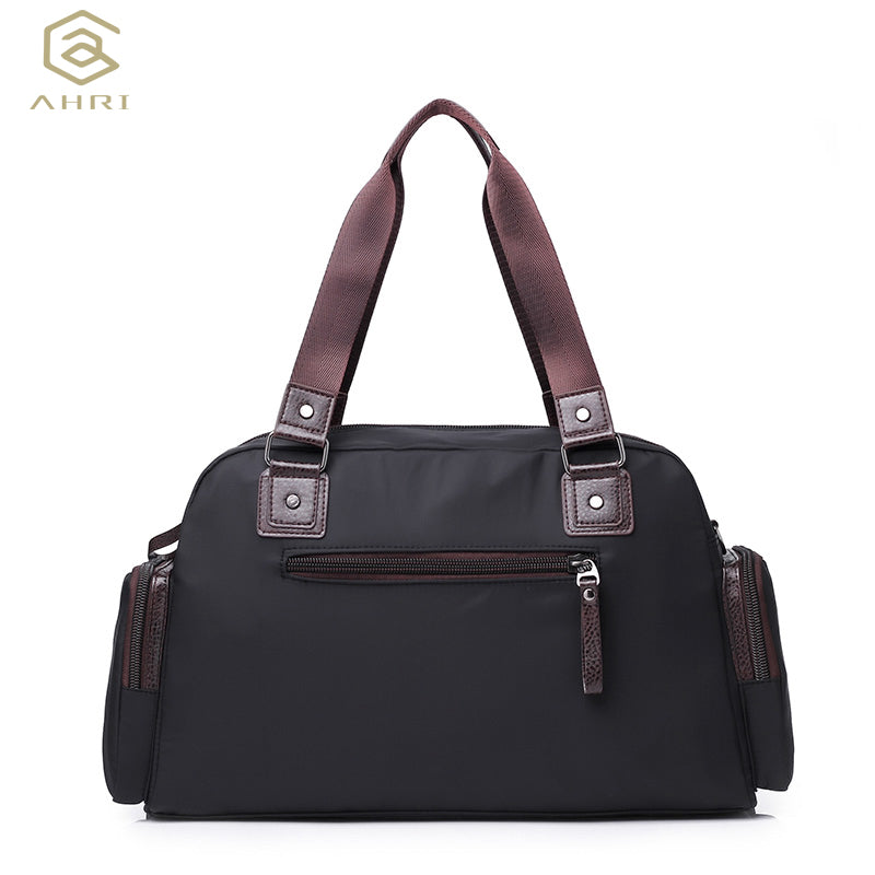 d31f64d93b PU Leather Men Travel Bags Carry on Luggage Bags Male Men Duffel Bags  Travel Tote Large