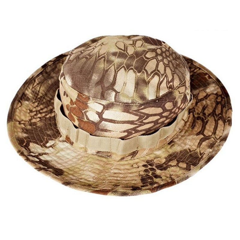 Airsoft Sniper Camouflage Nude Bucket Hats Tactical Boonie Hats topee  Military Mens Summer hat 73dd745f438