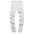New Skinny Jeans Men White Hole Hip Hop Denim Pants Zipper Pencil West Jeans Fashion Ripped Jeans for Men