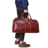 Big Capacity Genuine Leather Travel Bag Vintage Crazy Horse Leather Men Travel Duffel Women Glossy Cow Leather Weekend bag