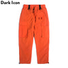 Big Side Pockets Loose Style Men's Pants Full Length High Street Orange Pants Men 4 Colors