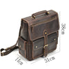 Big capacity genuine leather men laptop backpack For Teenager casual male real cow leather travel rucksack anti thief