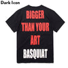 Bigger Than Your Art Basque Printed Men's T-shirt Short Sleeve Summer Casual T Shirt Tee Shirts Men